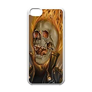 UNI-BEE PHONE CASE For Iphone 4 4S case cover -Ghost Rider-CASE-STYLE 6