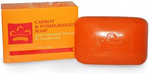 Nubian Heritage Bar Soap Carrot And Pomegranate – 5 oz – Pack of 6