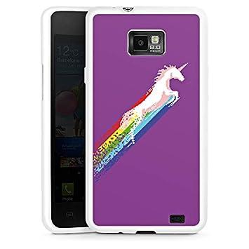 fb9348ffa87 Carcasa Samsung Galaxy S2 Unicornio Unicornio Unicorn, silicona, Silicone  Case white, Samsung Galaxy S2 Plus: Amazon.es: Electrónica