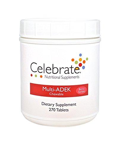 Celebrate Multivitamin ADEK - Berry Sorbet - 270 Count