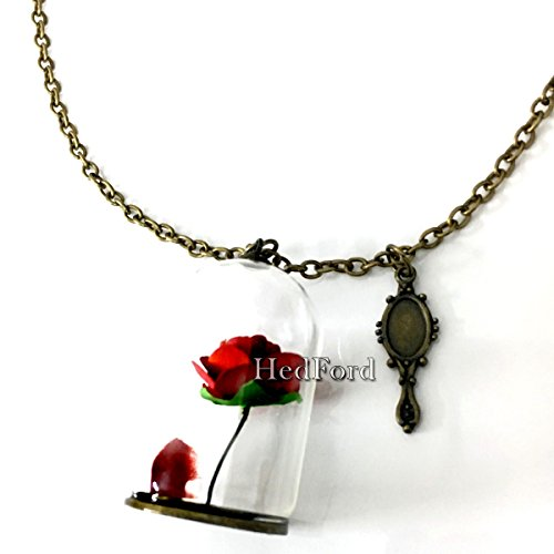 Flower Necklace Beauty & The Beast Exquisite Dome Flower (The Beast X Men Costume)