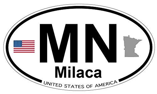 Milaca, Minnesota Oval Sticker