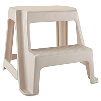 Pleasant Rubbermaid Two Step Stool 18 9 10L X 18 2 5W X 18 4 5H Caraccident5 Cool Chair Designs And Ideas Caraccident5Info