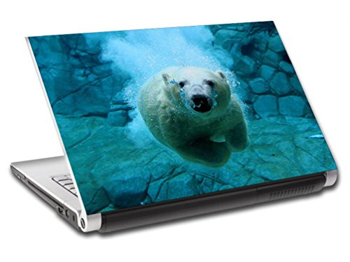 Polar Bear Dive Personalized LAPTOP Skin Vinyl Decal Sticker WITH YOUR NAME L102 - 10