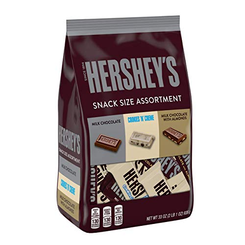 HERSHEY'S Holiday Chocolate Candy Variety Mix, Snack Sizes for Stocking Stuffing, Gifts, and Parties, 33 oz. (Hershey Mini)