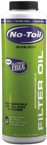 NO-TOIL EVOL FILTER OIL 16OZ