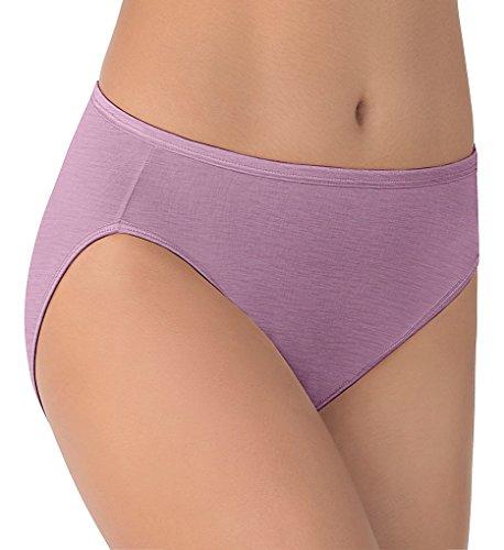 Vanity Fair Women's Illumination Hi Cut Panty 13108, Serene Mauve, X-Large/8