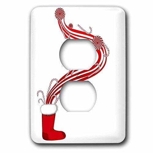 3dRose LLC lsp_66090_6 - Botas de Papá Noel con diseño navideño de caramelo, color rojo y blanco