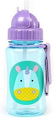 Skip Hop Biberón de transición con taza para niños pequeños: Botella de agua apta para lavavajillas con tapa a