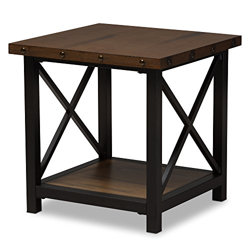 - Baxton Studio Reine Metal & Wood Occasional End Table