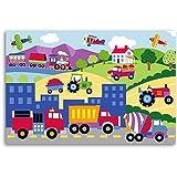 Olive Kids Trains Planes and Trucks Unframed Art Prints