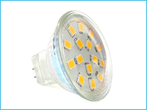 Bombilla LED MR11 3W=30W 12V 24V DC 10-30V Blanco neutral 15 SMD 2835: Amazon.es: Iluminación