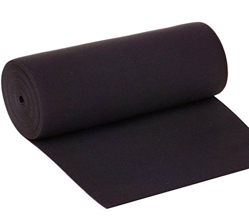 - 8-inch Wide Black Knit Heavy Stretch High Elasticity Elastic Band 2-yard