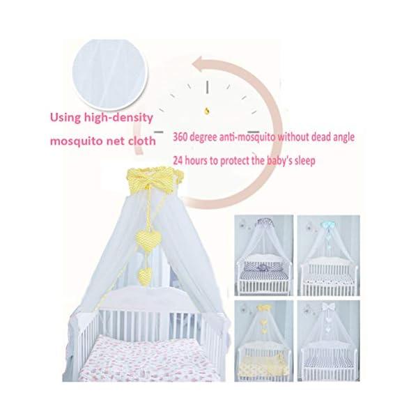 ZXYSR Princess Letto A Baldacchino Zanzariera per Bambini Culla, Round Dome Kids Indoor Castle Play Tent Tela di Cotone… 4 spesavip