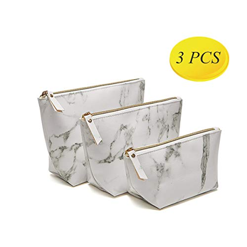 High Capacity Marble Pattern Cosmetic Bag -Makeup Pouch Travel Bags Portable, As Brushes Kit Bag Or Organizer Coin Purse, PU Leather Bag Coin Purse for Women Travel Toiletry Bag