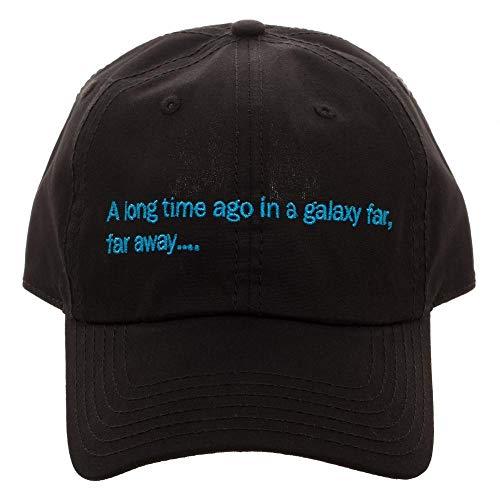 Bioworld Star Wars Crawl A Long Time Ago Black Dad Hat ()