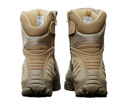 WZG botas de bota botas de combate de los hombres para la formación de los cargadores tácticos militares botas de desierto tácticos de camping botas de montaña sand color