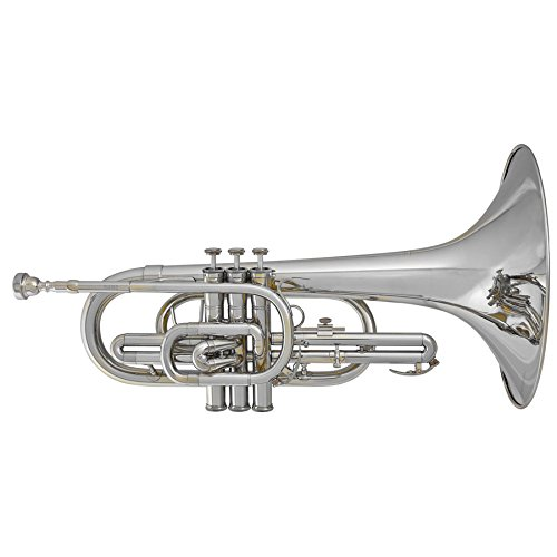 Blessing BM100S Marching Mellophone, Silverplated
