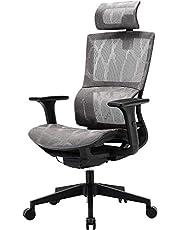 SIHOO Ergonomisk kontorsstol hög rygg nät kontorsstol datorbordsstol, justerbart 3D-armstöd, unikt elastiskt korsryggsstöd