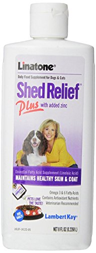 8-Ounce, Liquid Skin & Coat Supplement for Dogs & Cat by Lambert (Linatone Plus Shed Relief)