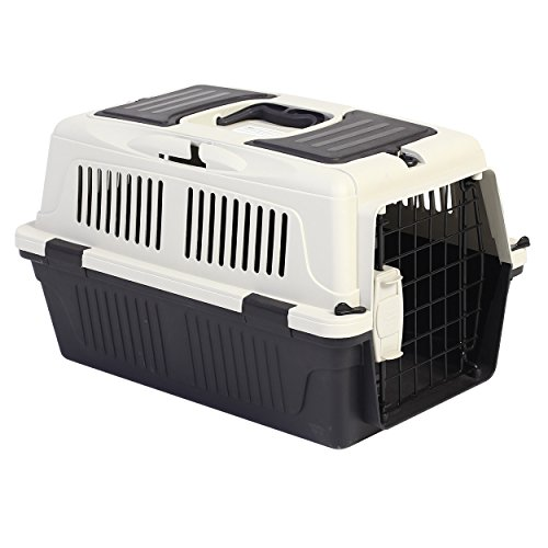 Animal Treasures PS7906 Deluxe Dog Kennel, X-Small/19, Gray/White by Animal Treasures (Image #1)