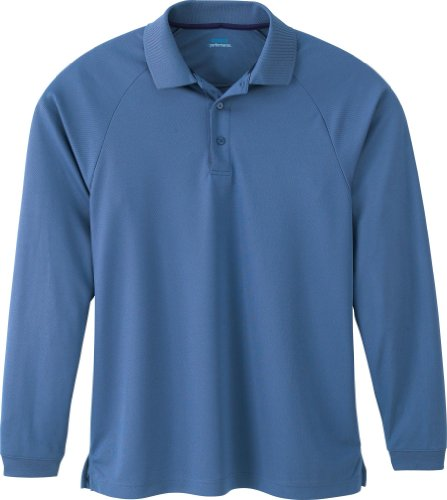 Extreme Mens Long Sleeve Eperformance Piqué Polo (85099) -CERAMIC BLU -XL