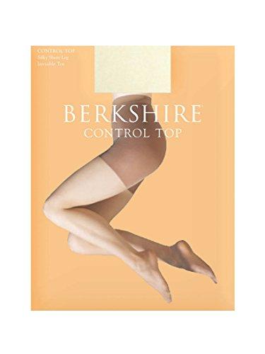 Berkshire Women's Silky Control Top Pantyhose - Sandalfoot 8723, Ivory, (Berkshire Silky Control Top)