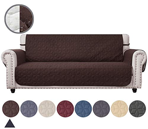 (Ameritex Couch Sofa Slipcover 100% Waterproof Nonslip Quilted Furniture Protector Slipcover for Dogs, Children, Pets Sofa Slipcover Machine Washable Oversize Sofa)