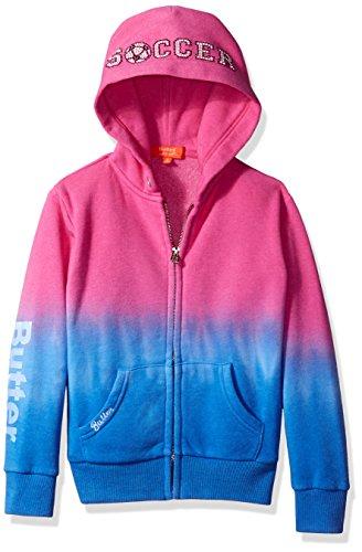Hoodies Butter Super Soft - Butter girls Fleece Zip Up Hoodie (More Styles Available) beetroot purple, 4