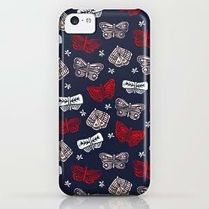 Society6 - Butterflies Block Print By Andrea Lauren iPhone & iPod Case by Andrea Lauren Design