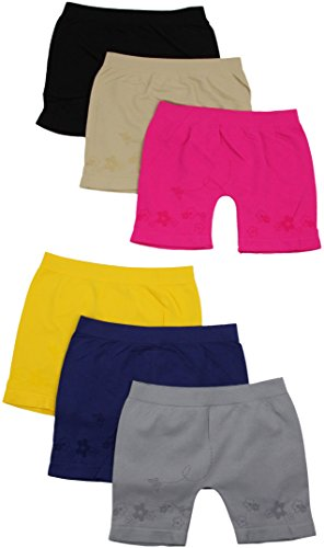 ToBeInStyle-Girls-Pack-of-6-Long-Boyshorts