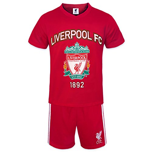 Liverpool FC Official Soccer Gift Boys Short Pajamas Red 4-5 Years