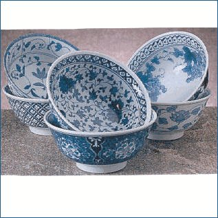 RSVP Decorative Japanese Porcelain Bowls, 16 oz. (.47L) Decorative Japanese Porcelain Bowls