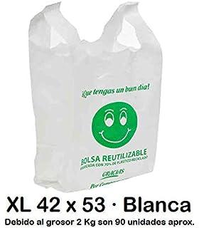 Plasbel - Bolsas de Plastico Asa Camiseta, 40 x 50 cm, 200 ...