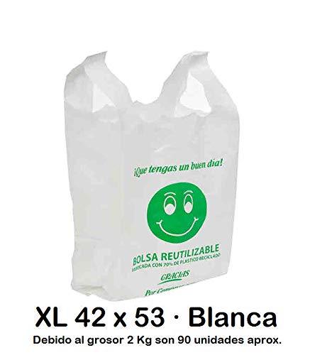 Bolsas de Plástico Tipo Camiseta Resistentes, Reutilizables ...