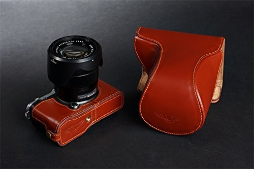 eBigValue Red Slim Holster Camera Bag Carrying Case for Sigma DP1s DP1x DP2 DP2s DP2x SD1 SD15 Point and Shoot Digital Camera and Hand Strap and Screen Protector