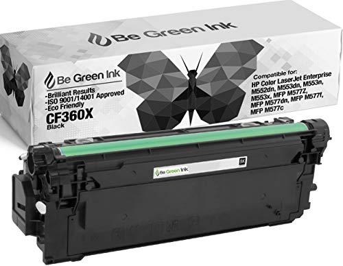 Be Green Ink HP CF360X 508X Black Compatible Toner Cartridge for HP m553dn, Color LaserJet Enterprise M552, M552dn, M553, M553n, M553x, M557, M557c, M577z, M577f, M577dn - (1 Black 12,500 Yield) by Be Green Ink