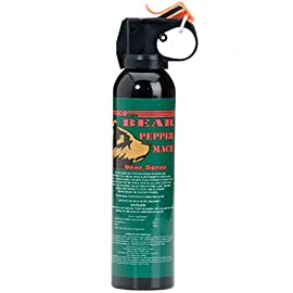Mace Brand Bear Pepper Spray 77 Bear Pepper Mace  Great news for true outdoor enthusiasts! Now you can protect yourself against possible bear attacks, with safe, humane Pepper Mace Bear Spray. This powerful Magnum Fogger is EPA approved and sprays up to 30 feet.  Size: 9oz. / 260 Grams n Fire Rate: 260 grams in 5.4 seconds.  Effective Range: Up to 30 feet.  Spray Type: Fogger Summer is on it's way,be prepared.