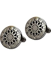 Parejo Cufflinks For Men, CLV-0115,Stainless Steel