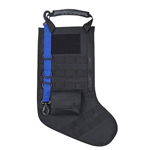 (Sunnyys Tactical Christmas Stocking Molle Military Christmas Stocking Desert Woodland BK)