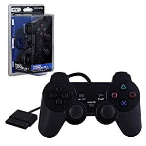TTX Tech PS1 / PS2 BLACK Wired Controller MODEL : NXP2-037