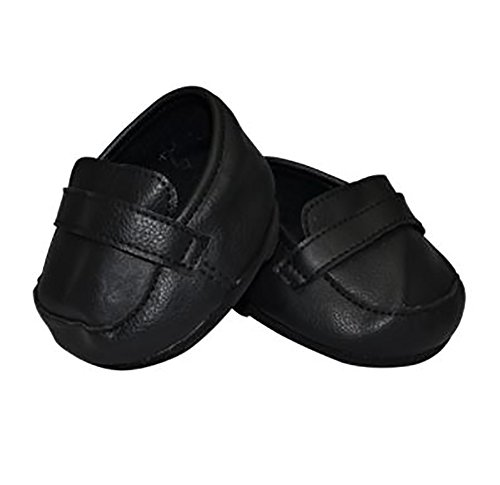 Black Dress Shoes for Teddy Bear Clothes Fit 14 inch to 18 inch Build-a-Bear and Make Your Own Stuffed Animals from Stuffems Toy Shop