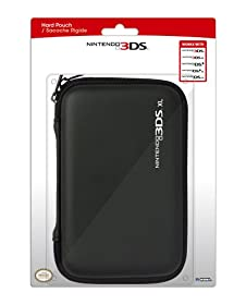 hori nintendo 3ds xl hard pouch black video games. Black Bedroom Furniture Sets. Home Design Ideas