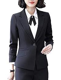 RS Womens Casual Basic Work Office Cardigan Tuxedo Blazer...