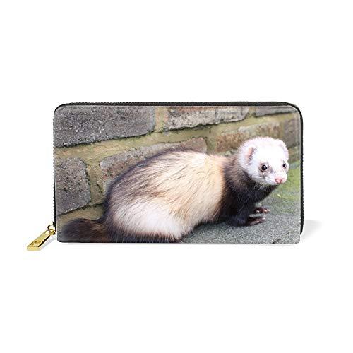 (Womens Mens Large Capacity Long Wallet Card Holder Fashion Sable Clutch Handbag)