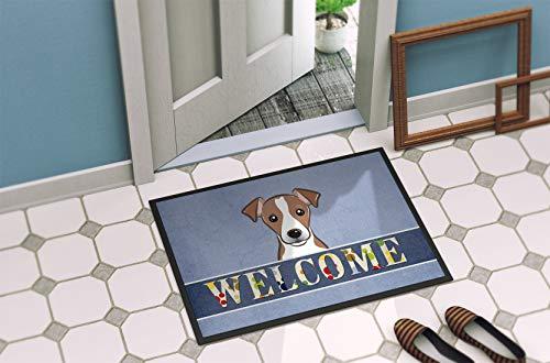 Caroline's Treasures BB1446JMAT Jack Russell Terrier Welcome Indoor or Outdoor Mat 24x36, 24H X 36W, Multicolor 2