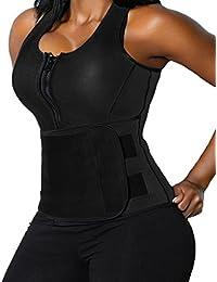 Neoprene Sauna Suit - Sauna Tank Top Vest with Adjustable Shaper Trainer Belt