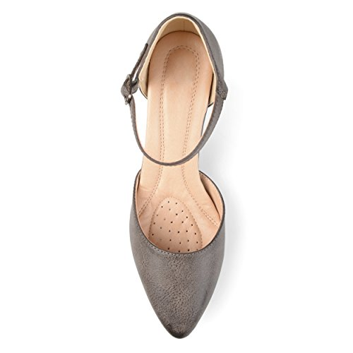 Strap Sole Co Toe Taupe D'Orsay Almond Brinley Ankle Womens Heels Comfort Faux Leather q611WXwF8