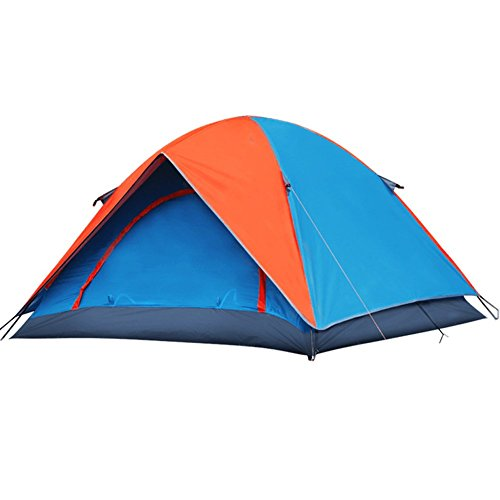 AZLife Lightweight 3-4 Person Dome Tent with Carry Bag for Camping Backpacking Hiking(Orange and Blue) by AZLife