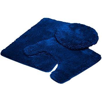 Mary 3 Piece Bathroom Rug Set, Luxury Soft Plush Shaggy Thick Fluffy  Microfiber Bath Mat